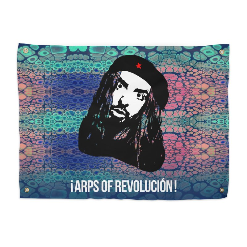 Psychedelic Arps Of Revolución Dos Home Tapestry by chriscoffincreations