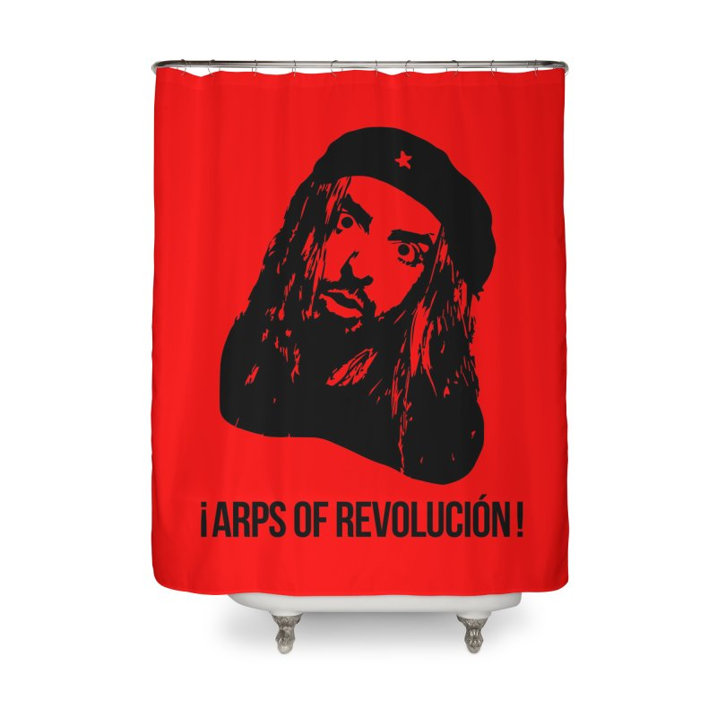 Arps Of Revolución Home Shower Curtain by chriscoffincreations
