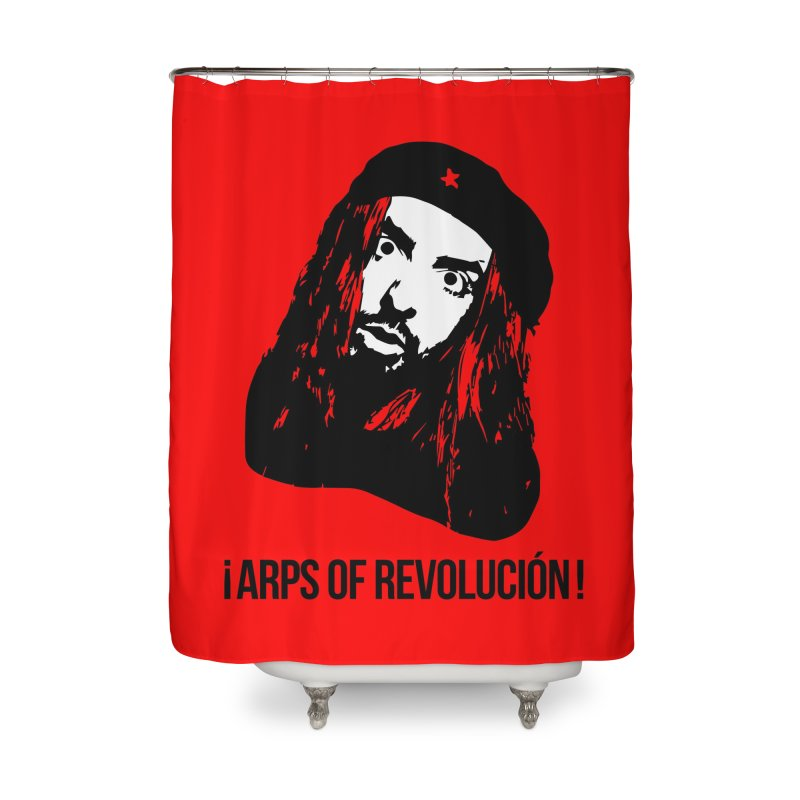 Arps Of Revolución II Home Shower Curtain by chriscoffincreations