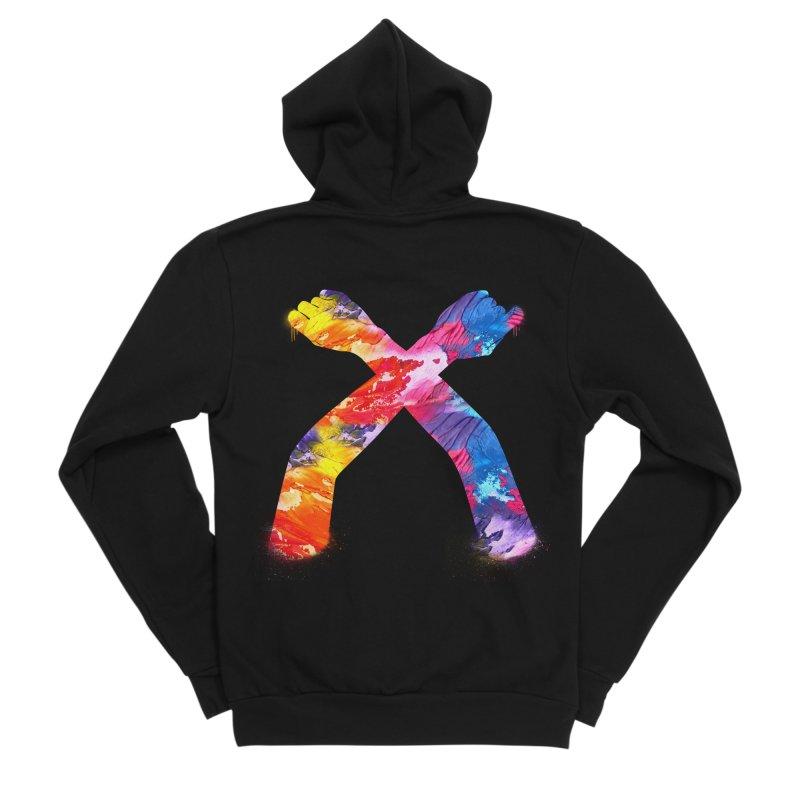 X Men's Sponge Fleece Zip-Up Hoody by chriscoffincreations