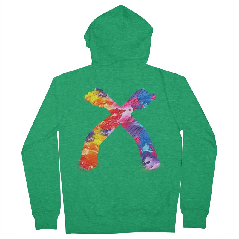 X Women's French Terry Zip-Up Hoody by chriscoffincreations