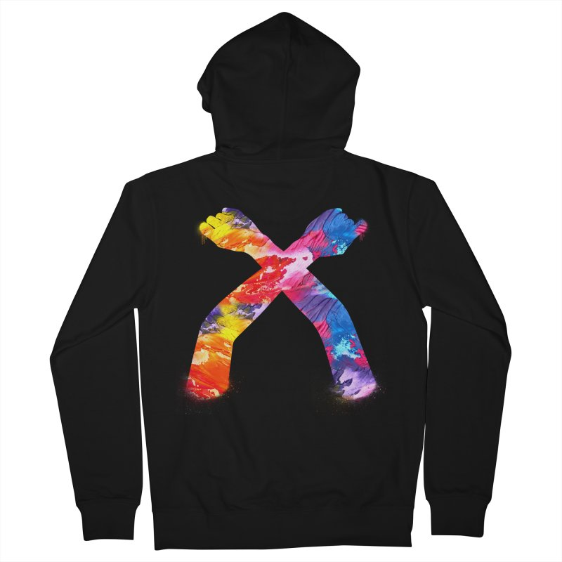X Men's French Terry Zip-Up Hoody by chriscoffincreations