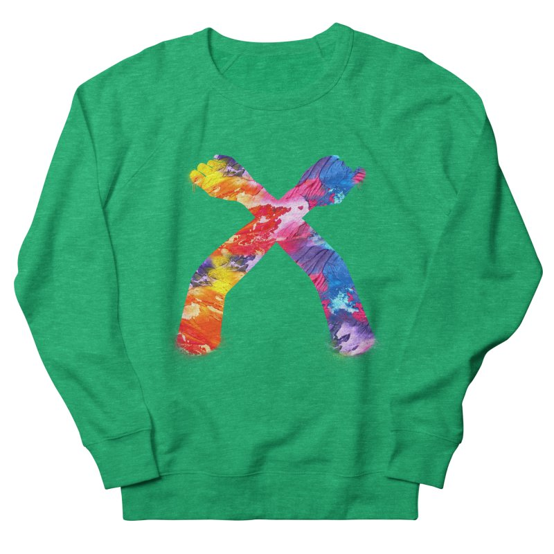 X Women's French Terry Sweatshirt by chriscoffincreations