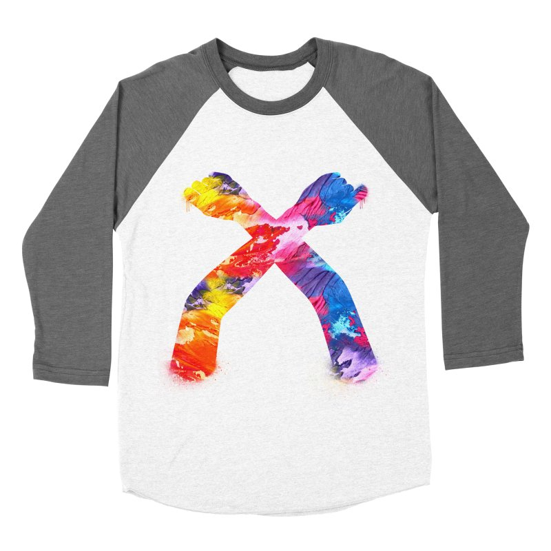X Women's Baseball Triblend Longsleeve T-Shirt by chriscoffincreations