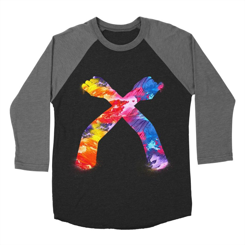 X Men's Baseball Triblend Longsleeve T-Shirt by chriscoffincreations