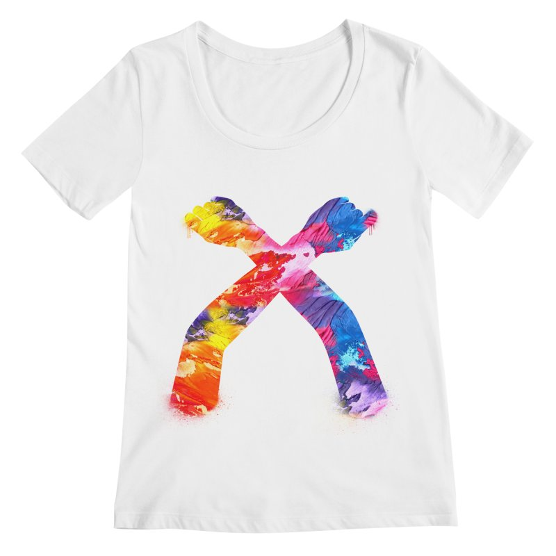 X Women's Regular Scoop Neck by chriscoffincreations