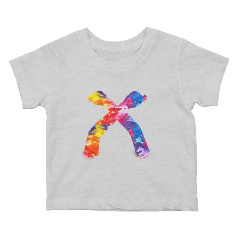X Kids Baby T-Shirt by chriscoffincreations