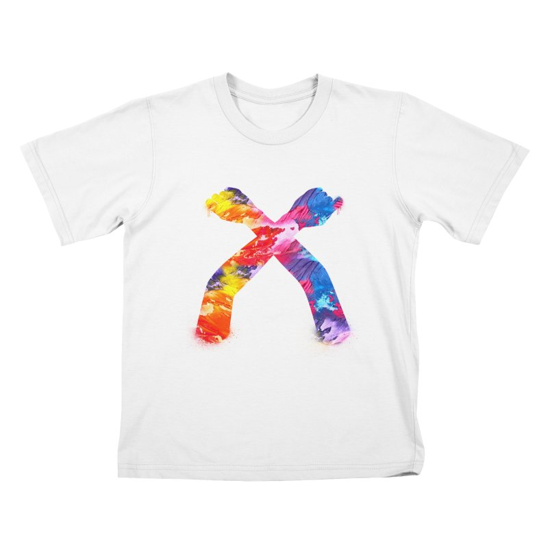 X Kids T-Shirt by chriscoffincreations