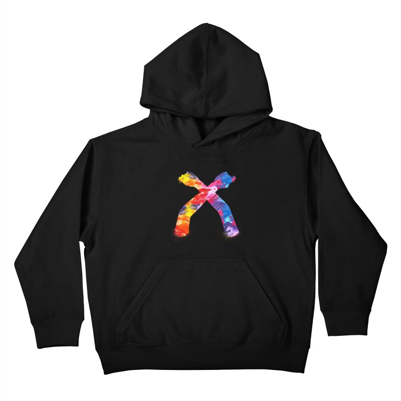 X Kids Pullover Hoody by chriscoffincreations