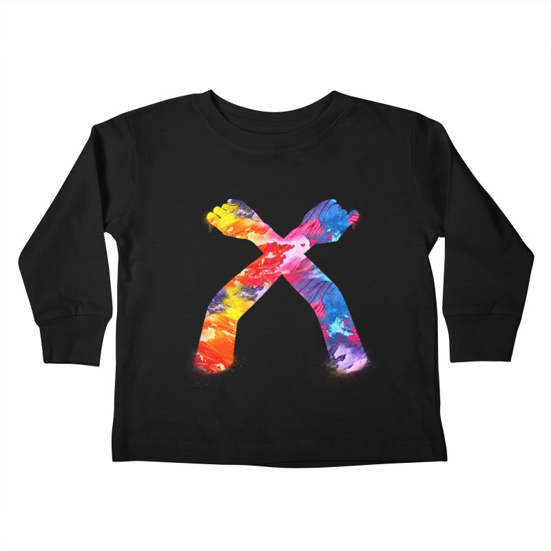 X Kids Toddler Longsleeve T-Shirt by chriscoffincreations