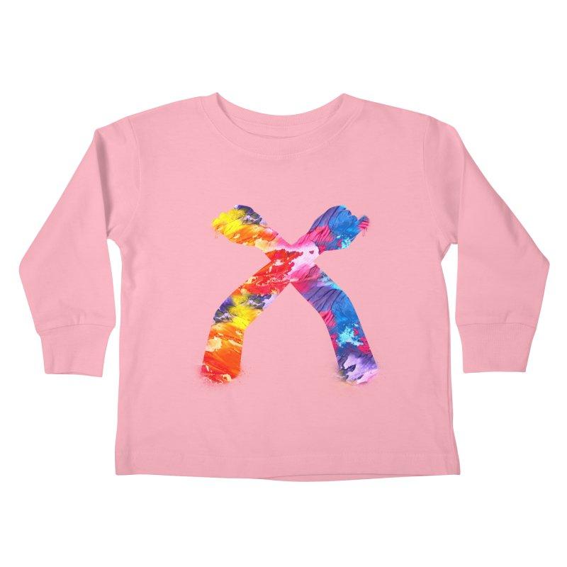 X Kids Toddler Longsleeve T-Shirt by chriscoffincreations