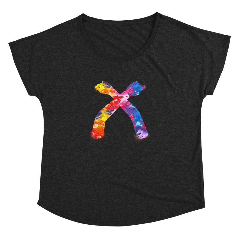 X Women's Dolman Scoop Neck by chriscoffincreations