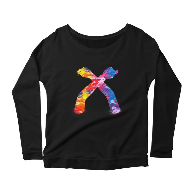 X Women's Scoop Neck Longsleeve T-Shirt by chriscoffincreations