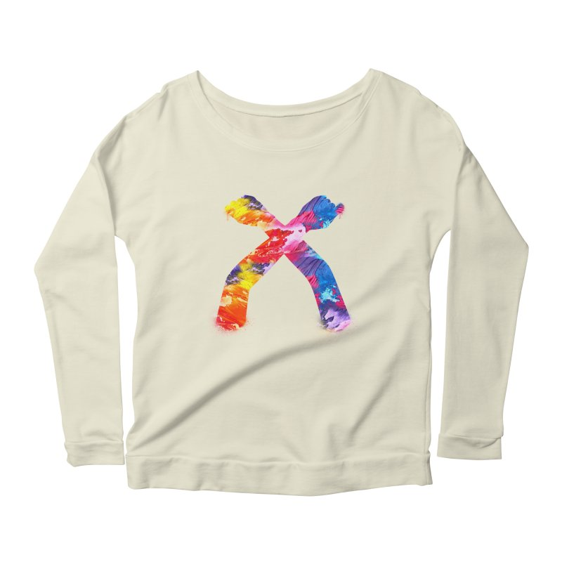 X Women's Scoop Neck Longsleeve T-Shirt by chriscoffincreations