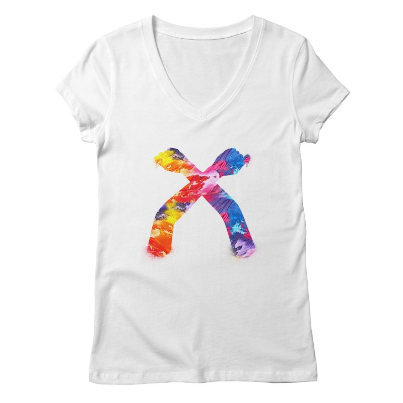 X Women's Regular V-Neck by chriscoffincreations