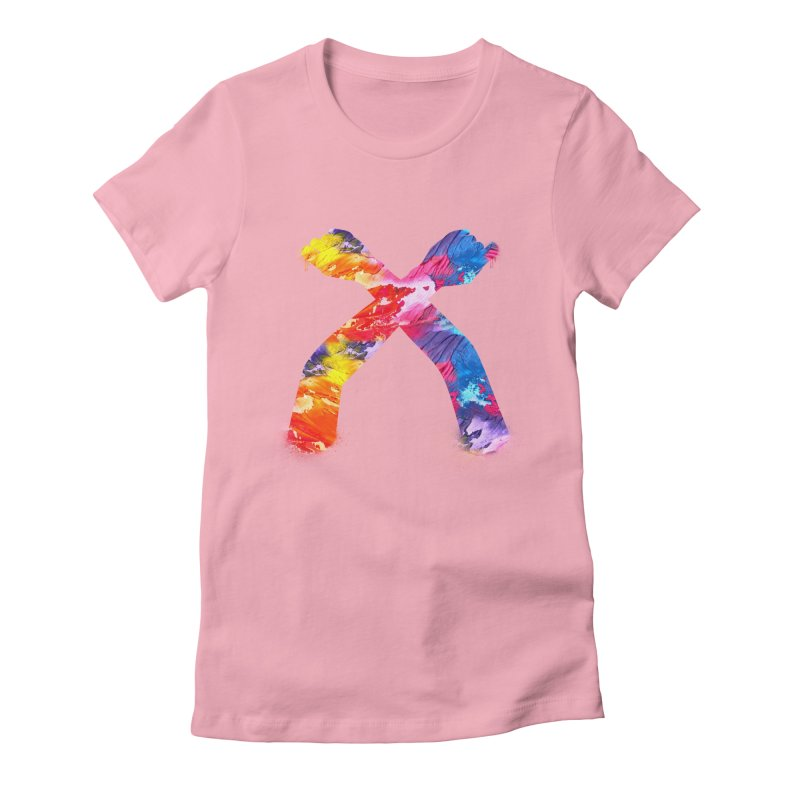 X Women's Fitted T-Shirt by chriscoffincreations