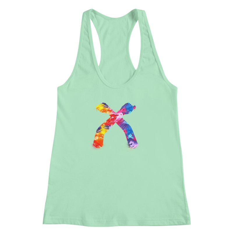 X Women's Racerback Tank by chriscoffincreations