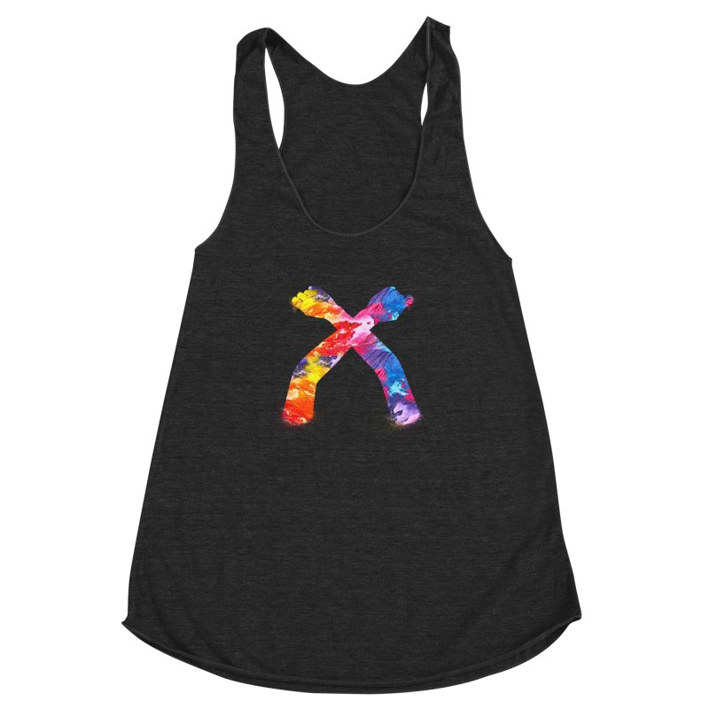 X Women's Racerback Triblend Tank by chriscoffincreations