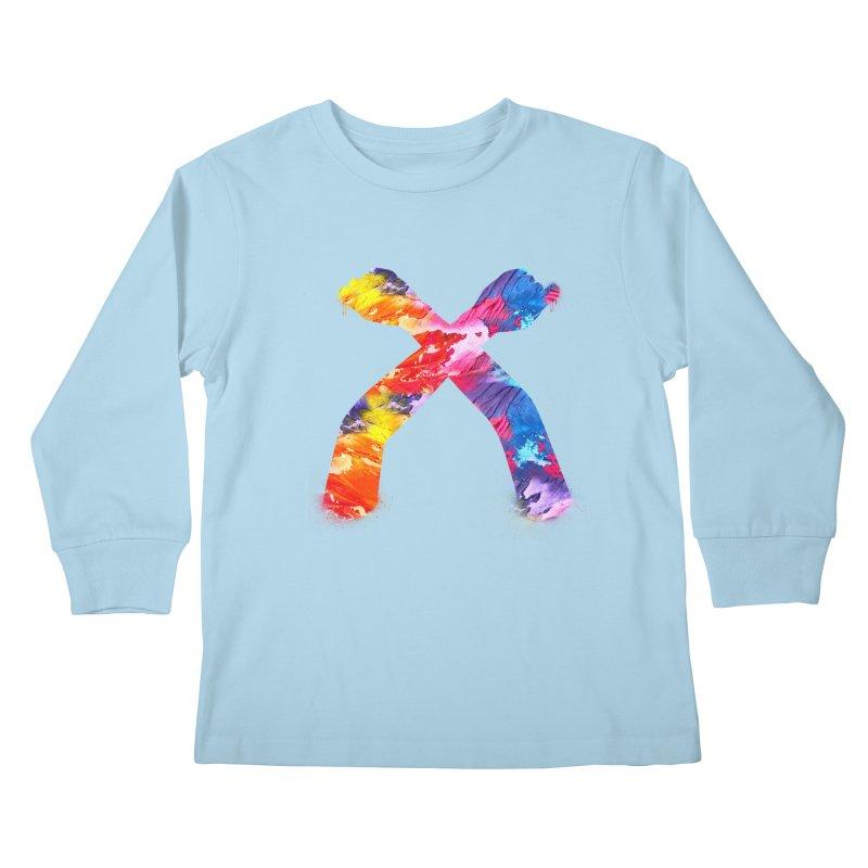 X Kids Longsleeve T-Shirt by chriscoffincreations