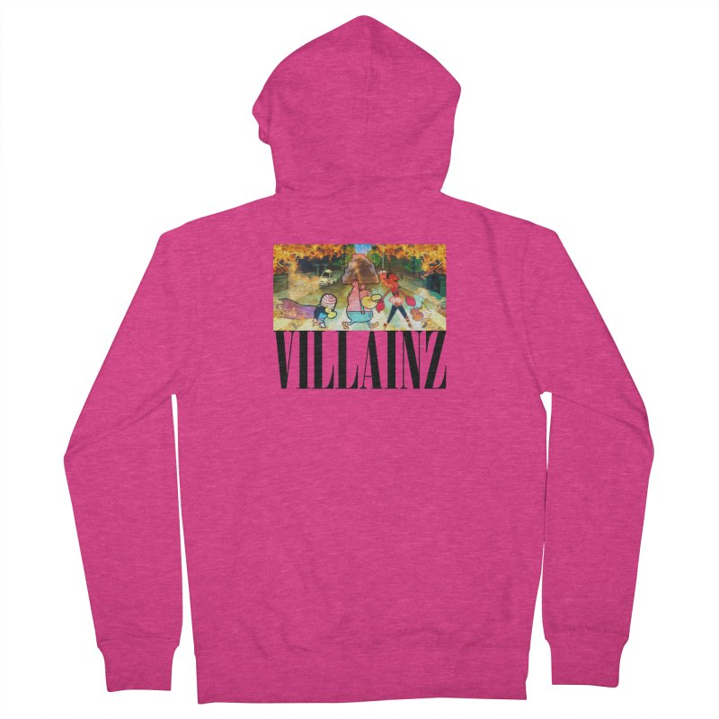 Villainz Women's French Terry Zip-Up Hoody by chriscoffincreations