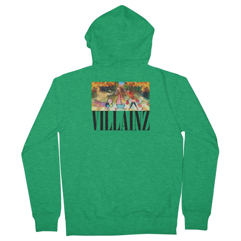 Villainz Men's French Terry Zip-Up Hoody by chriscoffincreations