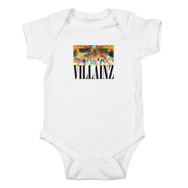 Villainz Kids Baby Bodysuit by chriscoffincreations