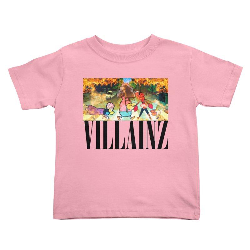Villainz Kids Toddler T-Shirt by chriscoffincreations