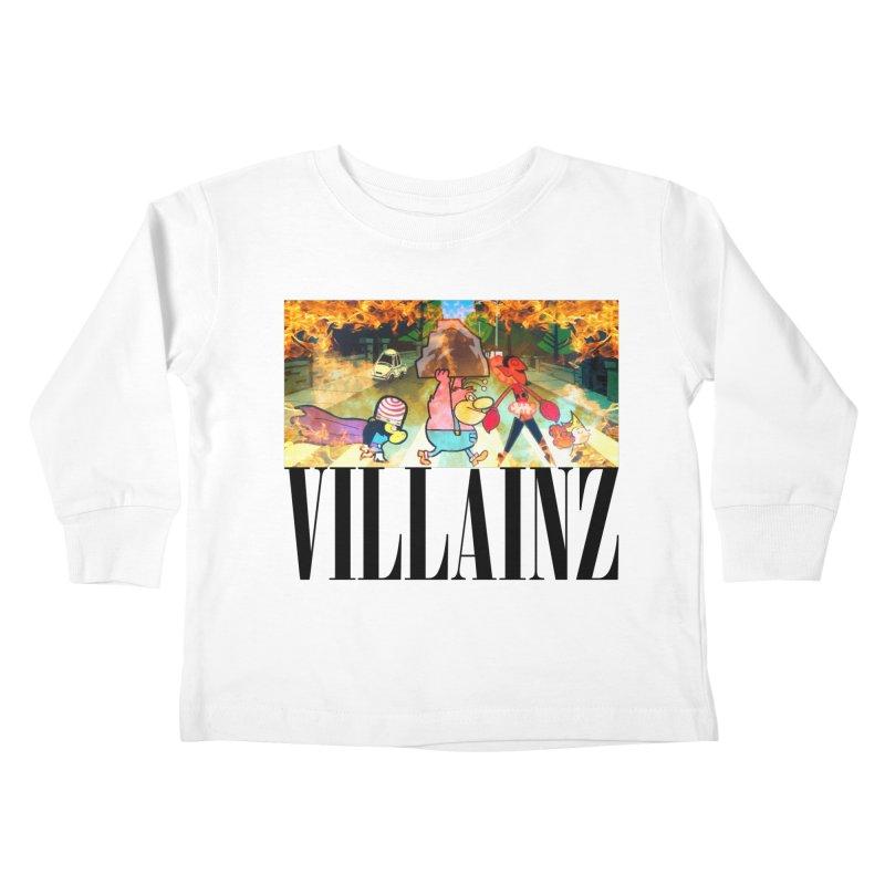 Villainz Kids Toddler Longsleeve T-Shirt by chriscoffincreations