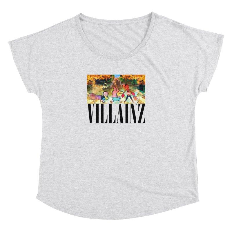 Villainz Women's Dolman Scoop Neck by chriscoffincreations