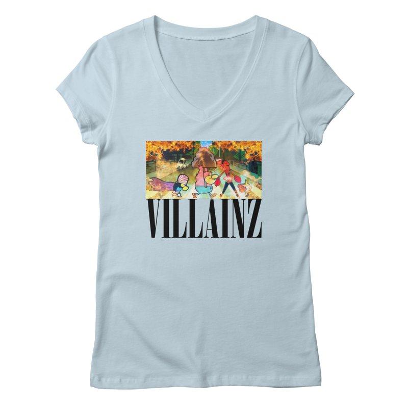 Villainz Women's Regular V-Neck by chriscoffincreations