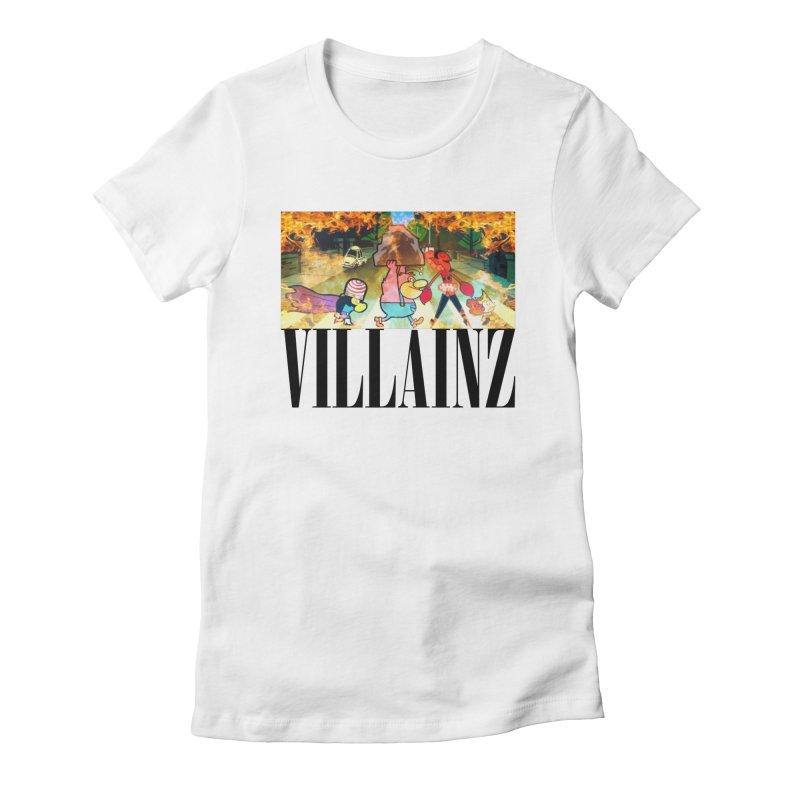 Villainz Women's Fitted T-Shirt by chriscoffincreations