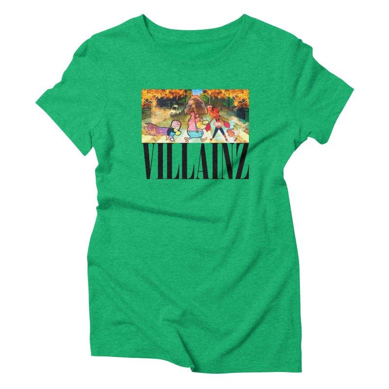 Villainz Women's Triblend T-Shirt by chriscoffincreations