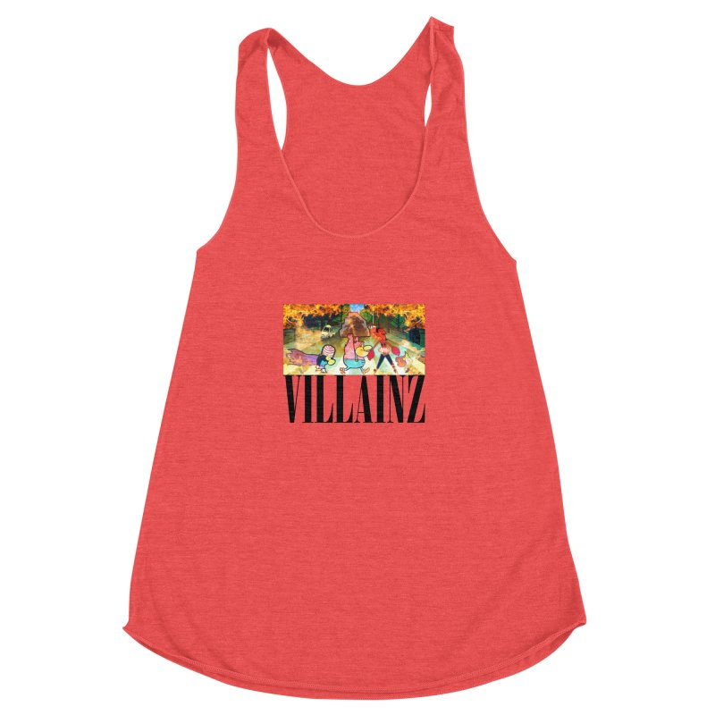 Villainz Women's Racerback Triblend Tank by chriscoffincreations