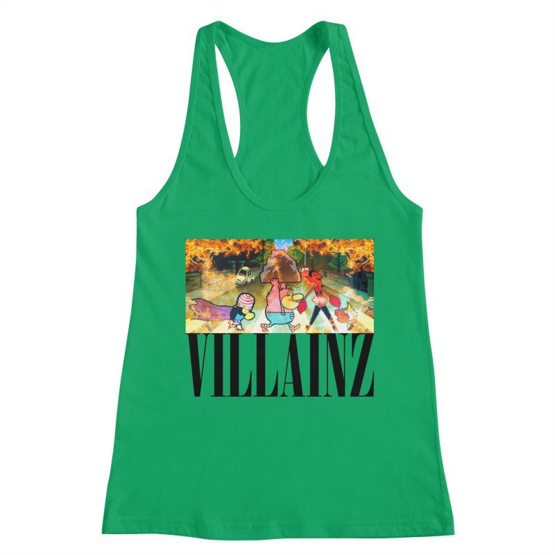 Villainz Women's Racerback Tank by chriscoffincreations