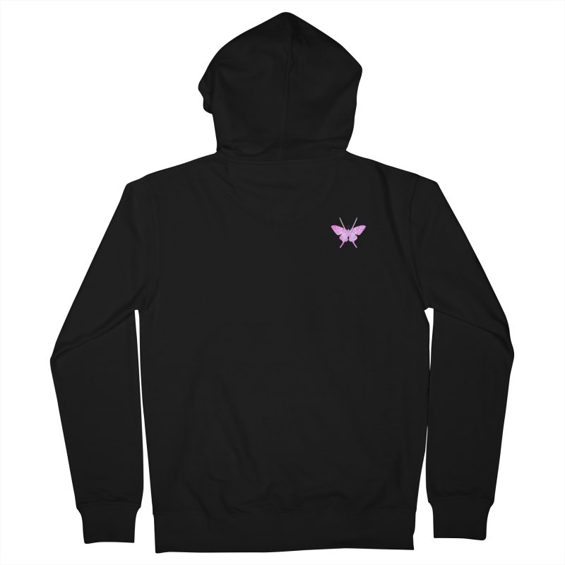 Cut Like A Samurai Sting Like A Butterfly Men's French Terry Zip-Up Hoody by chriscoffincreations