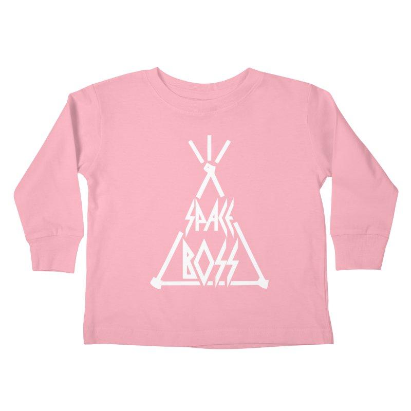 Space Boss Kids Toddler Longsleeve T-Shirt by chriscoffincreations