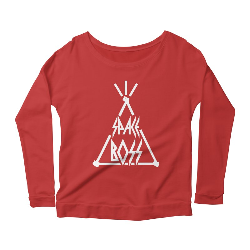 Space Boss Women's Scoop Neck Longsleeve T-Shirt by chriscoffincreations