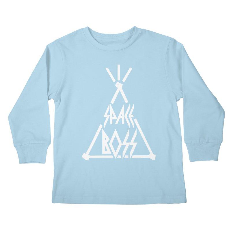 Space Boss Kids Longsleeve T-Shirt by chriscoffincreations