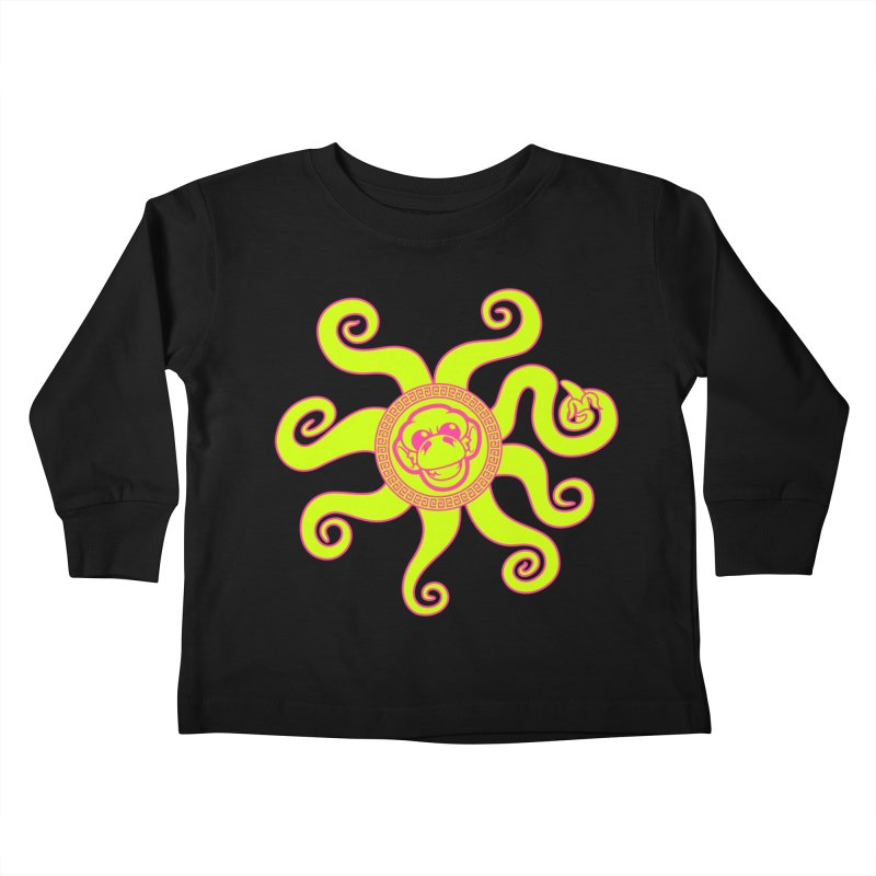 OctoMonkey Kids Toddler Longsleeve T-Shirt by chriscoffincreations