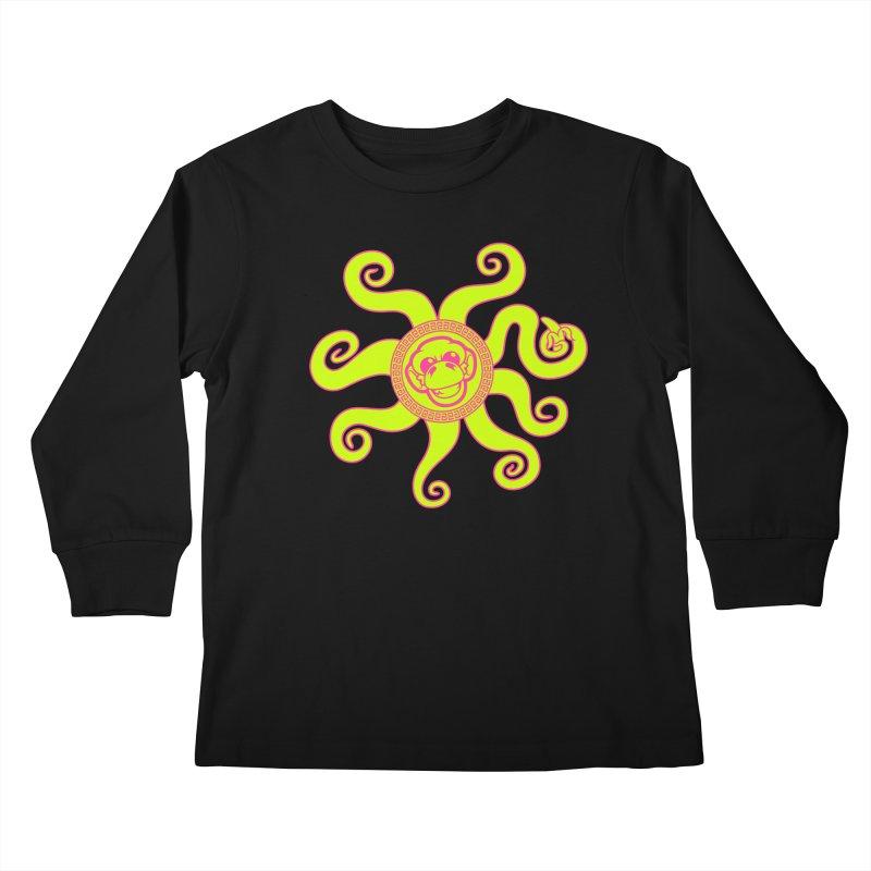 OctoMonkey Kids Longsleeve T-Shirt by chriscoffincreations