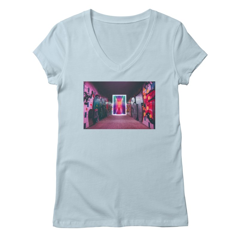 Passage Women's Regular V-Neck by chriscoffincreations