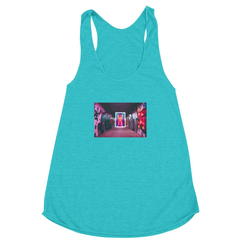 Passage Women's Racerback Triblend Tank by chriscoffincreations