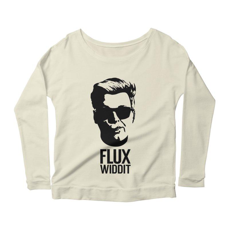 Flux Widdit Women's Scoop Neck Longsleeve T-Shirt by chriscoffincreations