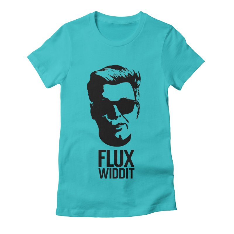 Flux Widdit Women's Fitted T-Shirt by chriscoffincreations