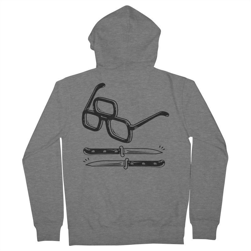 Third Eye Glasses Men's French Terry Zip-Up Hoody by Chris Crammer