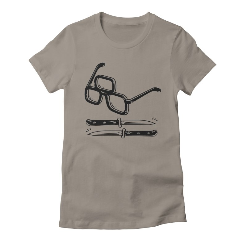 Third Eye Glasses Women's Fitted T-Shirt by Chris Crammer
