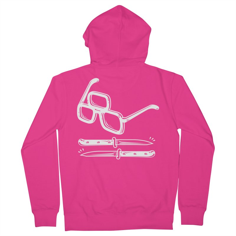 Third Eye Glasses Men's Zip-Up Hoody by Chris Crammer