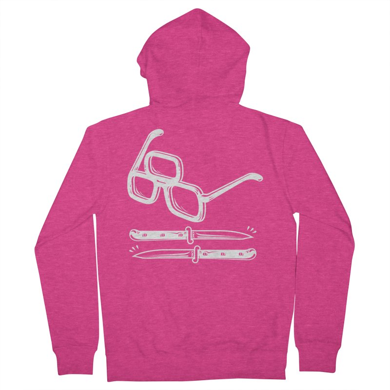 Third Eye Glasses Women's French Terry Zip-Up Hoody by chriscrammer's Artist Shop