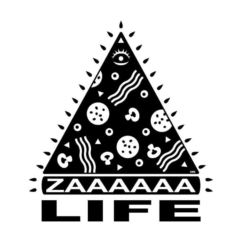 Zaaaaaa Life Black Women's Pullover Hoody by Chris Crammer