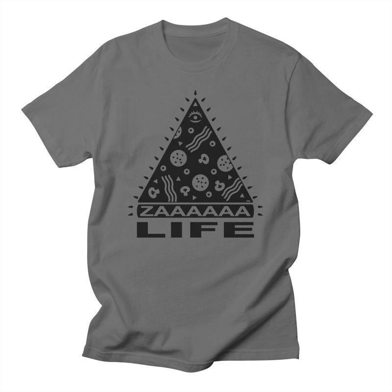 Zaaaaaa Life Black Men's T-Shirt by Chris Crammer